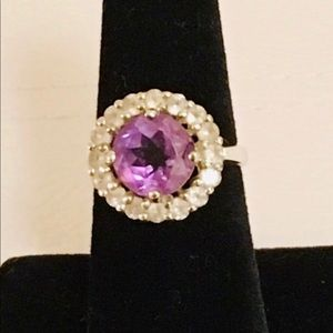 Jewelry - 💯% Authentic Amethyst Sterling Silver Ring
